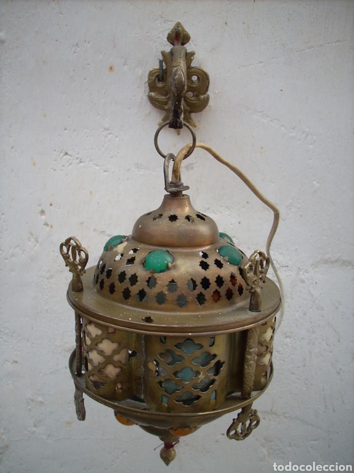 Antigüedades: 2 Aplique de laton Turkos 16 cm diametro. - Foto 2 - 160733468