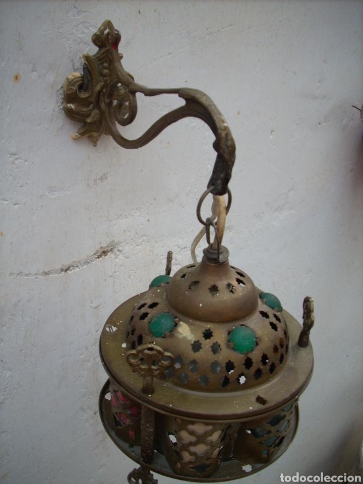 Antigüedades: 2 Aplique de laton Turkos 16 cm diametro. - Foto 3 - 160733468