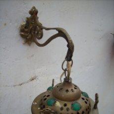 Antigüedades: 2 APLIQUE DE LATON TURKOS 16 CM DIAMETRO.. Lote 160733468
