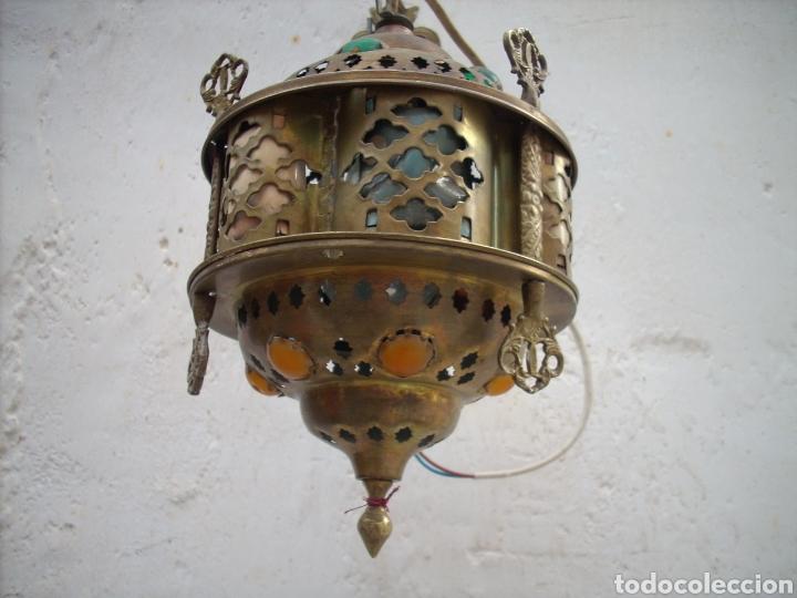 Antigüedades: 2 Aplique de laton Turkos 16 cm diametro. - Foto 4 - 160733468