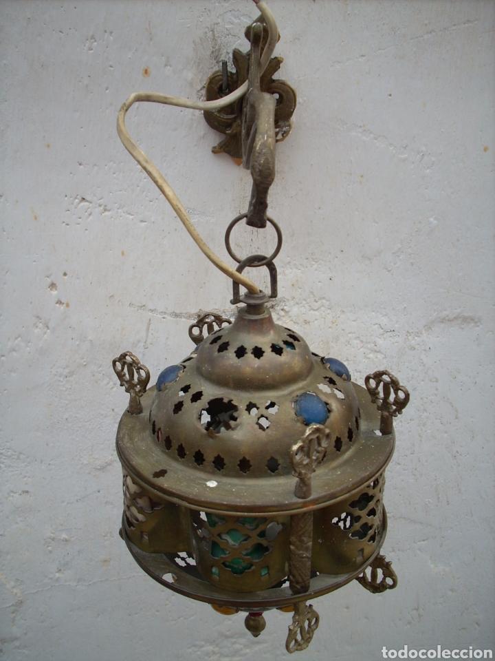 Antigüedades: 2 Aplique de laton Turkos 16 cm diametro. - Foto 10 - 160733468