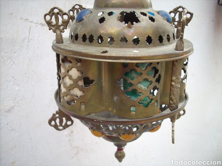 Antigüedades: 2 Aplique de laton Turkos 16 cm diametro. - Foto 11 - 160733468