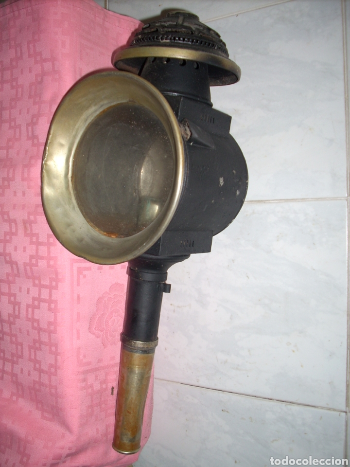 FAROL DE ANTIGUA MAQUINA DE TREN (Antigüedades - Iluminación - Faroles Antiguos)