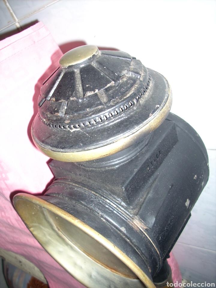 Antigüedades: Farol de Antigua maquina de Tren - Foto 3 - 160745110
