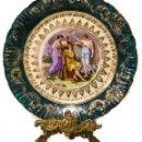 Antigüedades: ESPECTACULAR PLATO ANTIGUO FIRMADO,PINTADO A MANO, DE AUSTRIA. Lote 160745602