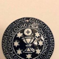 Antigüedades: MEDALLA PORCELANA SARGADELOS ## ANTONIO PEREZ PRADO ## PEDRÓN DE OURO 1996. Lote 160751078