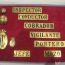 Antigüedades: MUESTRARIO INSIGNIAS, BOTONES, EMBLEMAS DEL MINISTERIO OBRAS PÚBLICAS, TRANSPORTES Y COMUNICACIONES. Lote 160754638