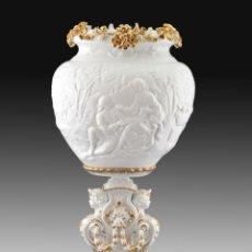 Antigüedades: LAMPARA DE MESA EN PORCELANA ESMALTADA. Lote 160763537