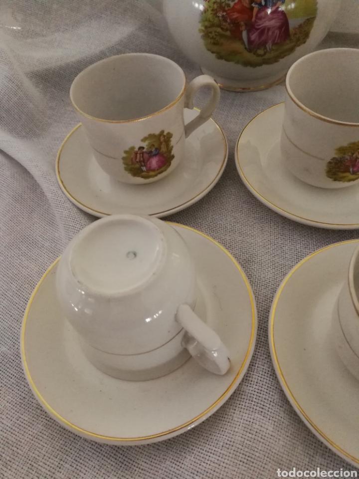 Antigüedades: JUEGO DE CAFE DE PORCELANA SELLADO CIFPLA GIJON. - Foto 3 - 160777052