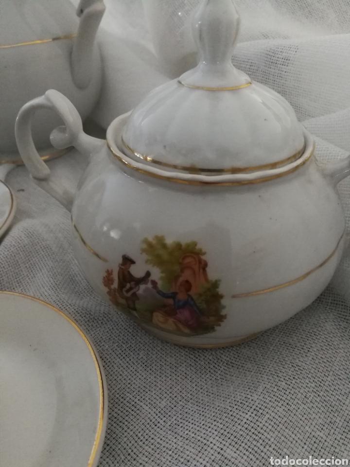 Antigüedades: JUEGO DE CAFE DE PORCELANA SELLADO CIFPLA GIJON. - Foto 4 - 160777052