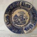 Antigüedades: PLATO LLANO DE CERAMICA DE SARGADELOS. SIGLO XIX.. Lote 160852898