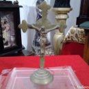 Antigüedades: CRUCIFIJO ANTIGUO DE BRONCE. Lote 160859521