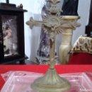Antigüedades: CRUCIFIJO ANTIGUO DE BRONCE DE PRINCIPIOS DEL SIGLO XX. Lote 160861110
