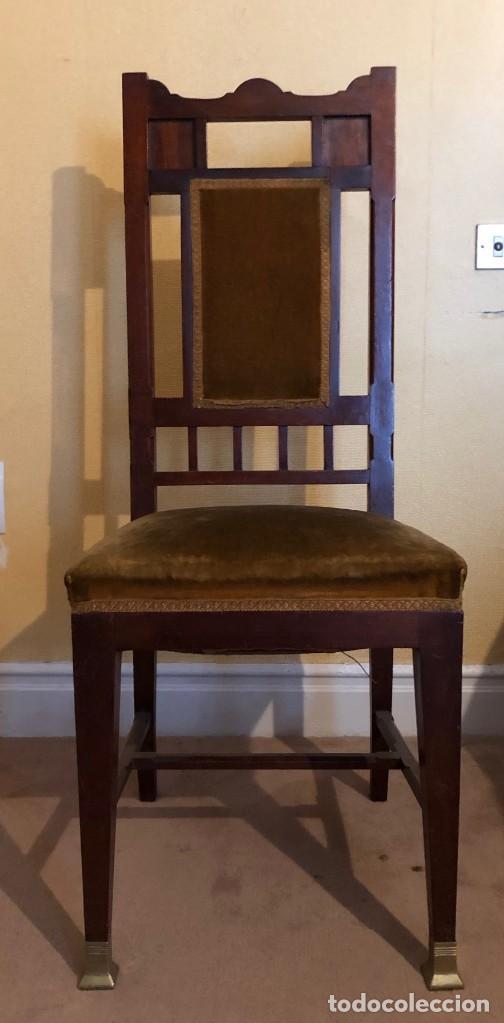 Antigüedades: Pareja sillas modernistas Primera mitad siglo XX - Foto 2 - 160869954