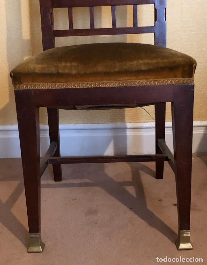 Antigüedades: Pareja sillas modernistas Primera mitad siglo XX - Foto 3 - 160869954