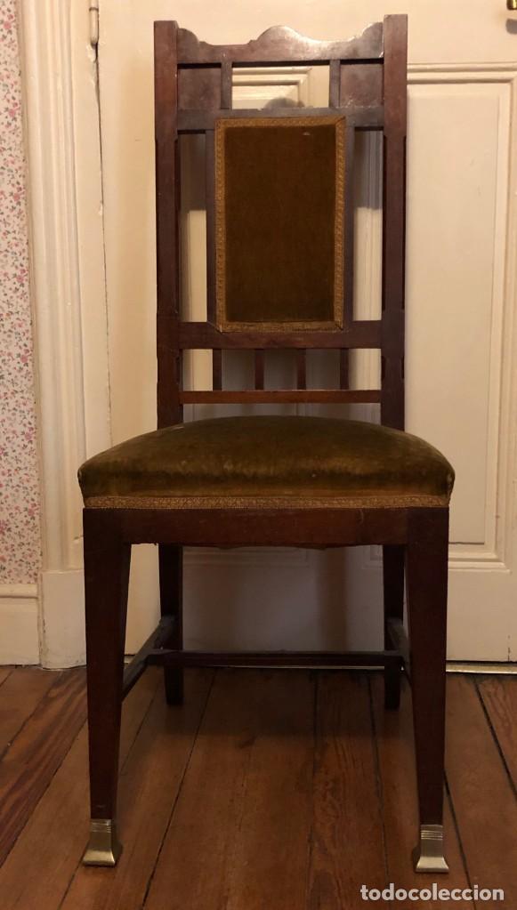 Antigüedades: Pareja sillas modernistas Primera mitad siglo XX - Foto 12 - 160869954