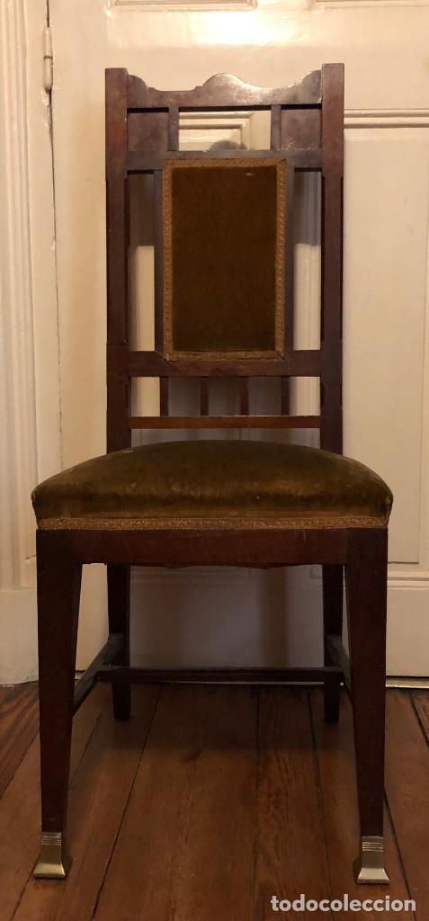 Antigüedades: Pareja sillas modernistas Primera mitad siglo XX - Foto 13 - 160869954
