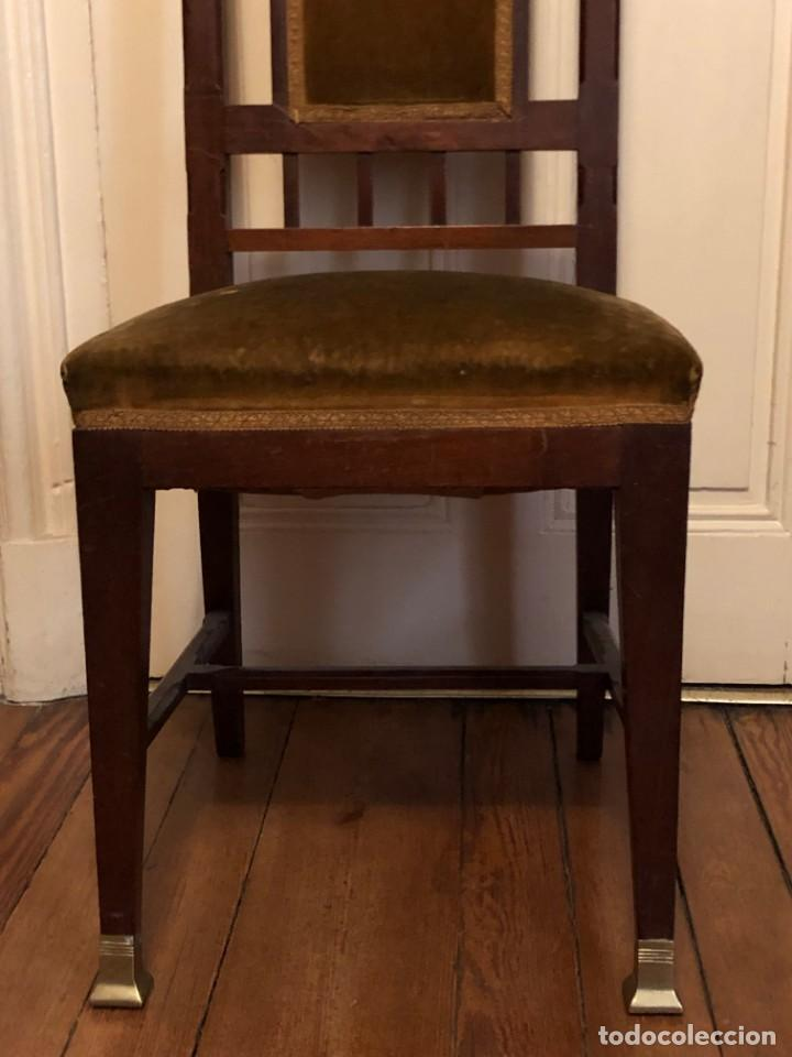 Antigüedades: Pareja sillas modernistas Primera mitad siglo XX - Foto 14 - 160869954