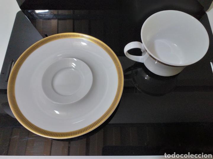 Antigüedades: juego de 6 servicios de cafe consomé mas lechera de porcelana de la marca Bidasoa - Foto 8 - 160873742