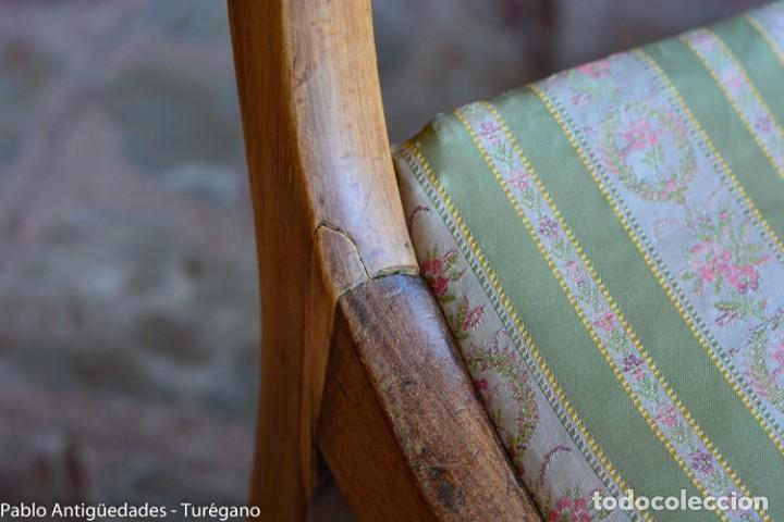 Antigüedades: Lote de 3 sillas isabelinas en madera tallada s.XIX - Estilo inglés, antiguas, sólida estructura - Foto 16 - 160877974