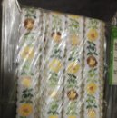 Antigüedades: TAPACOSTURAS FLORES VERDE Y AMARILLO. 20 METROS . Lote 160882822