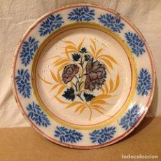 Antigüedades - Plato, en cerámica de Triana, s. XIX - 160889146
