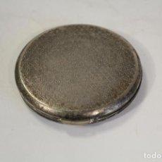 Antigüedades: POLVERA ESPEJO ANTIGUO PLATEADO. Lote 160905598