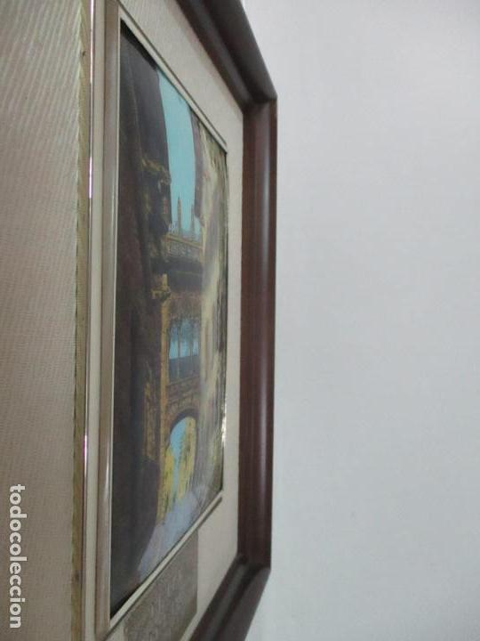Antigüedades: Bonita Placa Conmemorativa - en Plata de Ley Esmaltada - Puente de la calle Bisbe, Barcelona - Foto 8 - 160912714