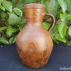 Antigüedades: ALFARERÍA CASTELLANA: JARRA/MEDIDA PARA VINO DE TAJUECO. Lote 160955818