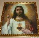 Antigüedades: LAMINA ENMARCADA - CORAZON DE JESUS.. Lote 160959558