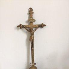 Antigüedades: CRUCIFIJO ANTIGUO DE BRONCE. Lote 160962210