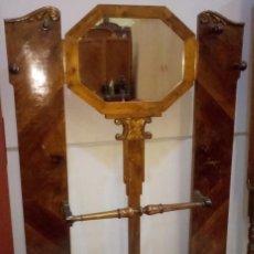 Antiguidades: MUEBLE RECIBIDOR O BASTONERO EN MADERA. Lote 160981562