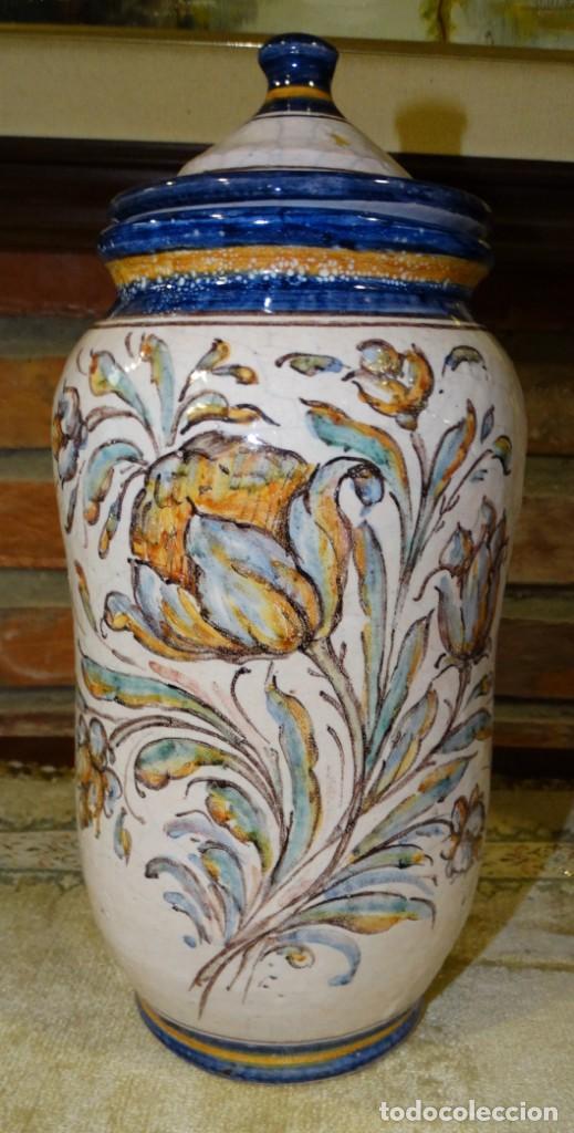 ALBARELO CRAQUELADO AÑOS 50. M TORRES SEVILLA (Antigüedades - Porcelanas y Cerámicas - Otras)