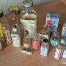 Antigüedades: LOTE 13 FRASCOS, BOTELLAS DE FARMACIA - MEDICAMENTOS. Lote 160989706