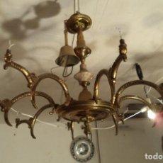 Antigüedades: LÁMPARA PARA RESTAURAR, BRAZOS DE BRONCE. Lote 160993326