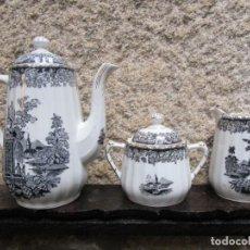 Antigüedades: CONJUNTO 3 PIEZAS JUEGO CAFE DE 50'S - VIGO ' ALVAREZ ' ' SANTA CLARA ' EXCELENTE + INFO Y FOTOS . Lote 161000054