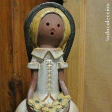 Antigüedades: FIGURA DE CERÁMICA. ELISA, MUJER CON FLORES. Lote 161020910