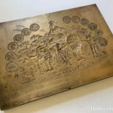 Antigüedades: XIX GENUINE ANTIQUE CUBAN CIGAR BRONZE PLATE IMPRESSION LARRAÑAGA PARTAGAS DUNHILL DAVIDOFF. Lote 161029326
