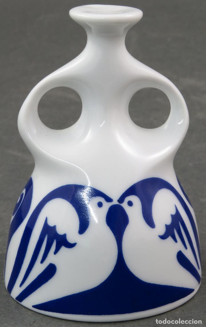 Antigüedades: Campana campanilla en cerámica Castro Sargadelos segunda mitad del siglo XX - Foto 3 - 161076286