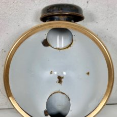 Antiquitäten - Antiguo farol o lámpara de tren ferroviario en hierro esmaltado - 161078034