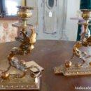 Antigüedades: PAREJA DE CANDELABROS ART-DECO. Lote 161099718