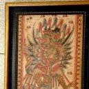 Antigüedades: BELLO CUADRO HINDÚ PINTADO A MANO SOBRE TELA. SE PRESENTA ENMARCADO. Lote 161103148