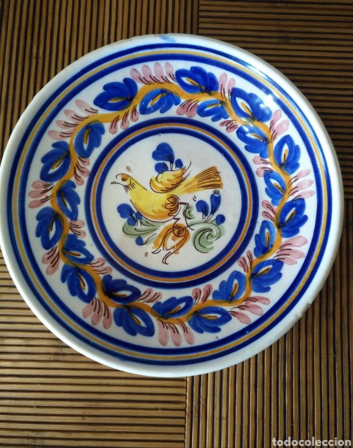 CUENCO PLATO HONDO CERAMICA MANISES , SIGLO XIX. 25CM X 3CM. (Antigüedades - Porcelanas y Cerámicas - Manises)