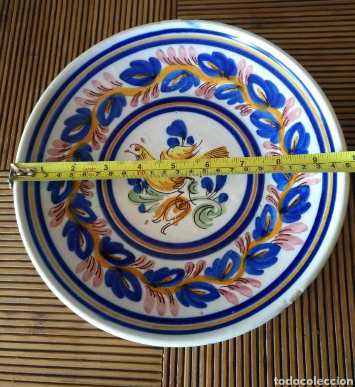 Antigüedades: Cuenco plato hondo ceramica manises , siglo XIX. 25cm x 3cm. - Foto 3 - 161108256