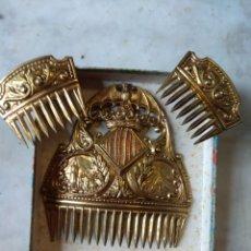 Antigüedades: ANTIGUA PEINETA - ADEREZOS DE FALLERA VALENCIANA - NIÑA - ESCUDO VALENCIA -. Lote 161112853