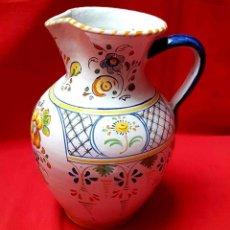 Antigüedades: JARRA DE TALAVERA, FIRMADA DURAN, 29 CM, NUEVA. Lote 161117078