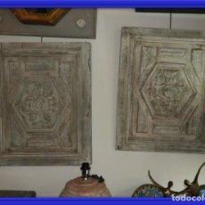 Antigüedades: PUERTAS CUADROS TABLAS DE MADERA ANTIGUAS EN DECAPE. Lote 161125970