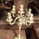 Antigüedades: CANDELABRO DE ALPACA. Lote 161144750