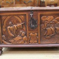 Antigüedades: ARCÓN/ BAÚL REYES CATÓLICOS.. Lote 161150866