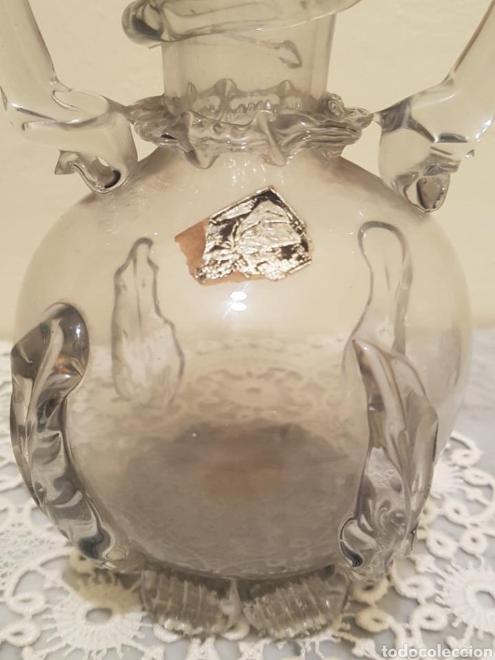 Antigüedades: Jarron cristal catalan soplado - Foto 5 - 161167792